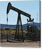 Oil Well  Pumper Canvas Print