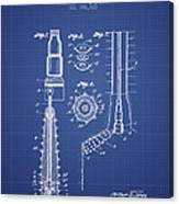 Oil Well Reamer Patent From 1924 - Blueprint Canvas Print
