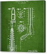 Oil Well Reamer Patent From 1924 - Green Canvas Print