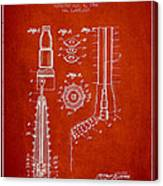 Oil Well Reamer Patent From 1924 - Red Canvas Print
