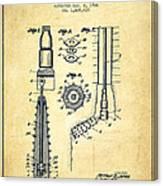 Oil Well Reamer Patent From 1924 - Vintage Canvas Print