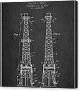 Oil Well Rig Patent From 1927 - Dark Canvas Print