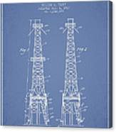 Oil Well Rig Patent From 1927 - Light Blue Canvas Print