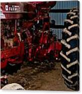 Oiled Tractor Canvas Print