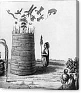 Ojibwa Medicine Man - To License For Professional Use Visit Granger.com Canvas Print