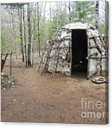 Ojibwe Weapons Wigwam Canvas Print