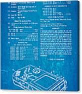 Okada Nintendo Gameboy Patent Art 1993 Blueprint Canvas Print