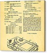 Okada Nintendo Gameboy Patent Art 1993 Canvas Print