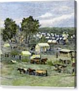 Oklahoma City, 1889 Canvas Print