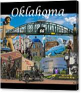 Oklahoma Collage With Words Canvas Print