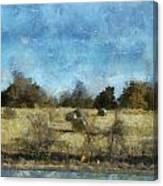 Oklahoma Hay Rolls Photo Art 02 Canvas Print