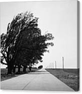 Oklahoma Route 66 2012 Bw Canvas Print