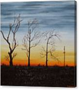 Country Road Sunset Canvas Print