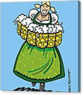 Oktoberfest Beer Waitress Dirndl Canvas Print