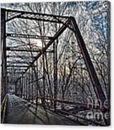 Ol' Iron Bridge Of Dark Hallow Canvas Print