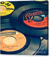 Old 45 Records Square Format Canvas Print