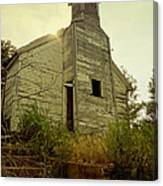 Old Abandoned Country  School Canvas Print