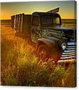 Old Abandoned Farm Truck Canvas Print