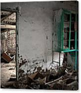 Old Abandoned Kitchen Canvas Print
