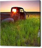 Old Abandoned Pick-up Truck Sitting In Canvas Print