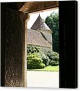 Old Abbey Church Door - Abbey Fontenay Canvas Print