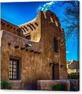 Old Adobe Building Santa Fe New Mexico Canvas Print