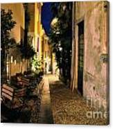 Old Alley At Night Canvas Print