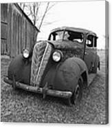 Old And Forgotten Black And White Canvas Print