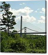 Old And New Bridges Over Penobscot Canvas Print
