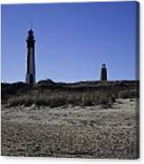 Old And New Cape Henry Lighthouse Canvas Print