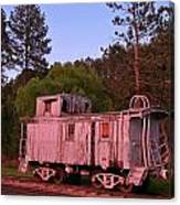 Old And Weathered Caboose Canvas Print