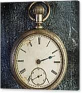Old Antique Pocket Watch Canvas Print