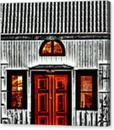 Old Antique Wooden House Canvas Print