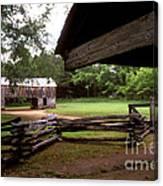 Old Appalachian Barn Yard Canvas Print