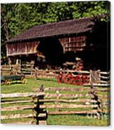 Old Appalachian Farm Cantilevered Barn Canvas Print