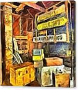 Old Baggage Claim Canvas Print