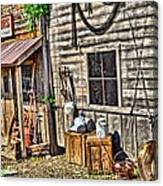 Old Bait Shop And Antiques Canvas Print