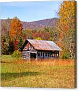 Old Barn Along Slick Fisher Road Canvas Print