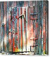 Old Barn Door 2 Canvas Print