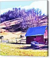 Old Barn In November Filtered Canvas Print