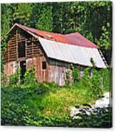 Old Barn Near Chimney Rock Canvas Print