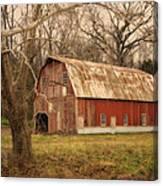Old Barn Near Rhineland Mo Dsc09267 Canvas Print