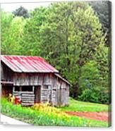 Old Barn Near Willamson Creek Canvas Print