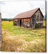 Old Barn On Highway 86 - Rustic Barn Canvas Print
