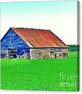 Old Barn On Treaty Road Oakhill Kansas Canvas Print
