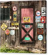 Old Barn Signs - Door And Window - Shadow Play Canvas Print