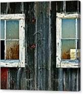 Old Barn Windows Canvas Print