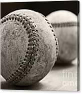 Old Baseballs Canvas Print