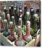 Old Beer Bottles Canvas Print