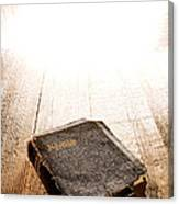 Old Bible In Divine Light Canvas Print